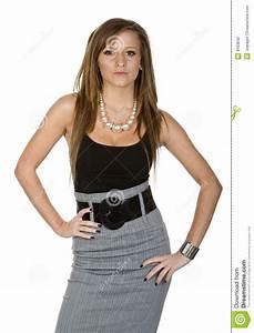 Adolescent De Bureau De Vtement Photographie Stock