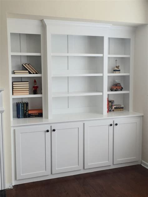 White Bookcase Cabinet by White Built In Bookcase With Lights Diy Projects