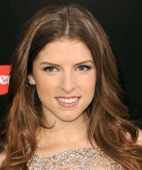 anna kendrick long straight formal hairstyle auburn