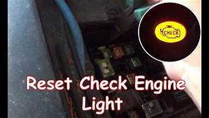 Diy  Reset Check Engine Light Without Obdii Reader