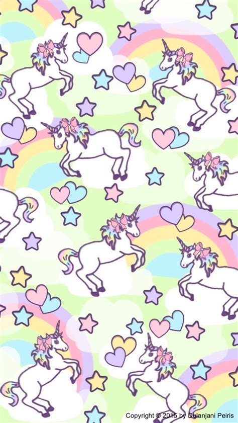 Unicorn Rainbow Emoji Kawaii Cute Love Pink Diy ️fondos