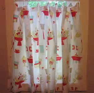 Vintage Red Kitchen Curtains