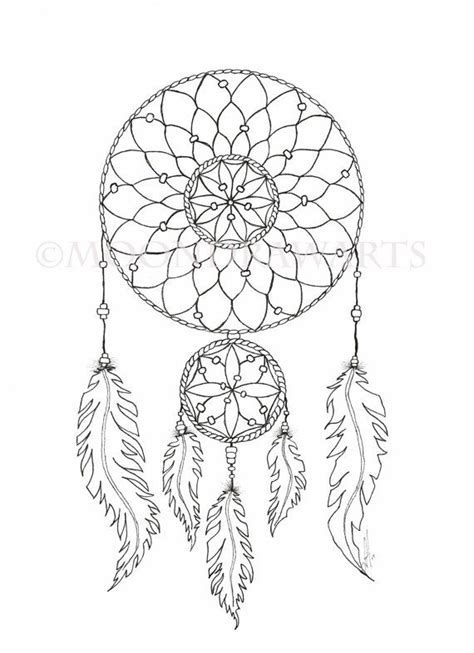 Dreamcatcher Template by Catcher Coloring Template Pictures To Pin On