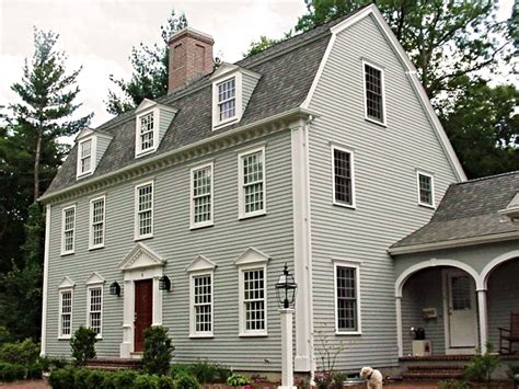 colonial house plan the gambrel colonial exterior trim and siding the