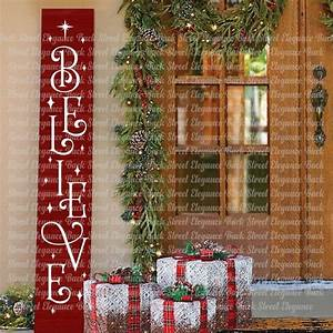 Believe, Vertical, Sign, Svg, Vertical, Sign, Cut, File, Christmas