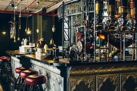 Awesome Steampunk Interior Design At Truth Cafe In South