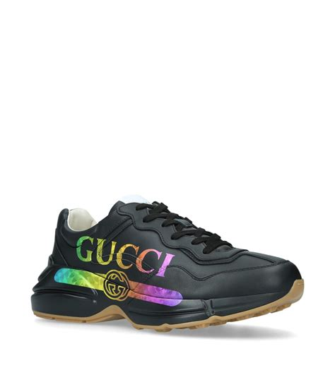 Womens gucci rhyton sneaker white low top sneakers hybrid styles continue to enrich guccis design narrative bringing two worlds together to create the unexpected. Gucci Rhyton Rainbow Logo Sneakers for Men - Save 18% - Lyst