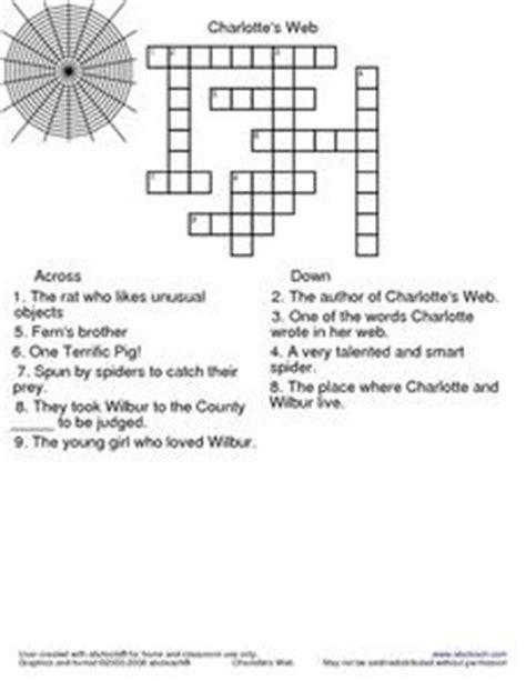 Charlotte's Web Crossword Puzzle 3rd Grade Worksheet  Lesson Planet