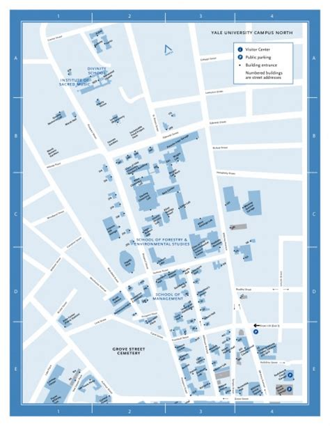 yale campus map yale university campus north map prospect street and