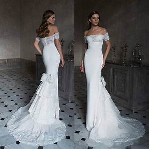 sexy 2016 lace mermaid wedding dresses white fitted bodice With white lace fitted wedding dress