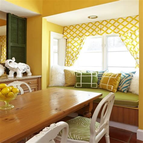 yellow kitchen curtains dining room colors yellow