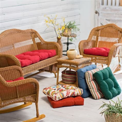 Wicker Settee Cushions by Outdoor Settee Cushions Set Of 3 Clearance Home Design Ideas