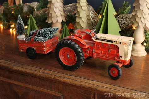 tractor christmas tree lights the craft patch tractor with a diy tree cart
