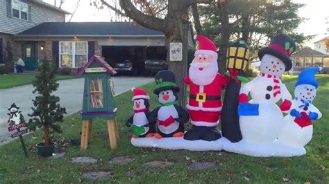 set   christmas inflatable yard decoration youtube