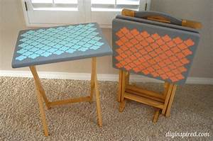 TV Tray Table Upcycle - DIY Inspired