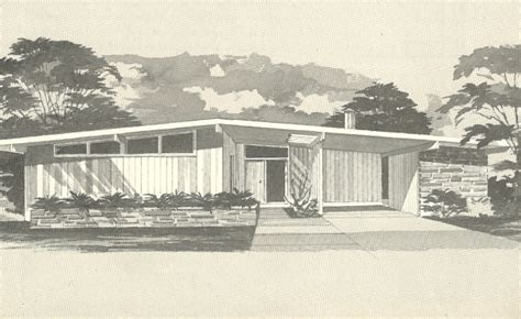vintage house plans 1960s mid century modern homes