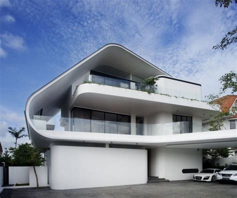house architect design home design modern white nuance of the exterior of