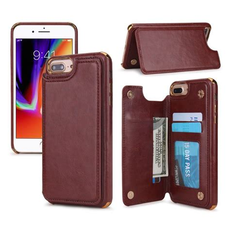 Side open design with easy access to all control buttons without removing the case. Dteck Wallet Case For iPhone 8 Plus / 7 Plus / 6s Plus / 6 Plus 5.5 inch, Slim Shockproof ...