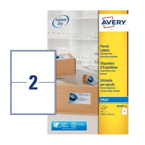 Template Avery 8168 Template Parcel Labels J8168 25 Avery
