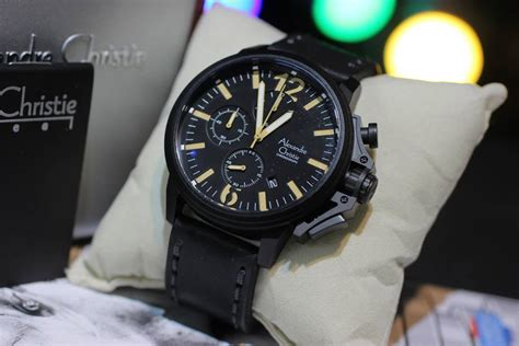Jam Tangan Timberland Fullblack jual jam tangan alexandre christie 6374 chrono tali kulit