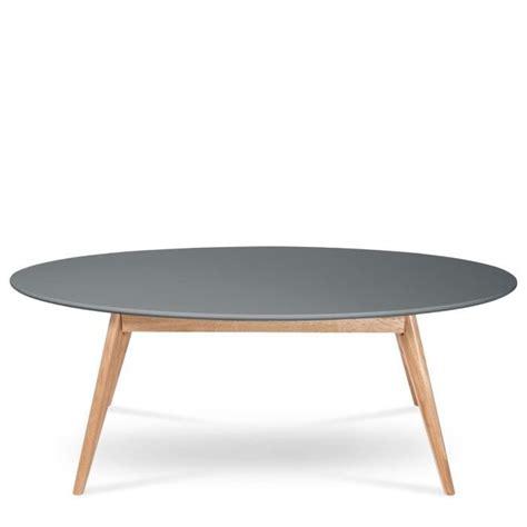 table basse ovale bois table basse ovale design scandinave skoll couleur gris achat vente table basse table basse