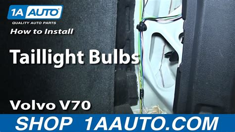install replace taillight bulbs   volvo