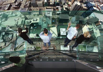 Willis Tower Observation Deck Wait Time by Glass Coating Cracks At Willis Tower S 103rd Floor