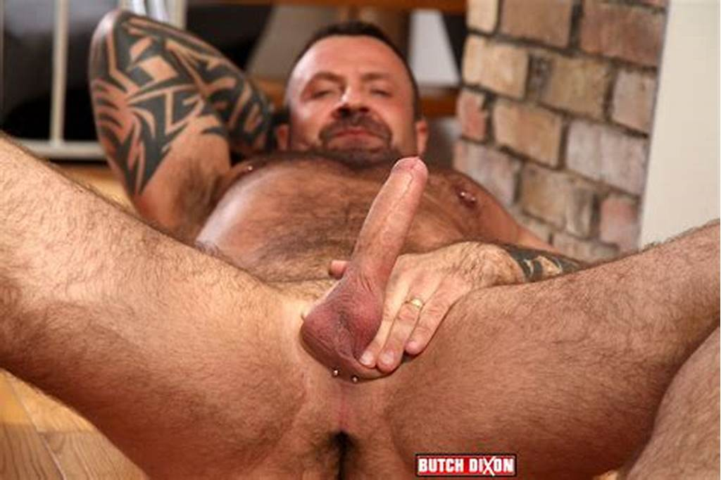 #Hairy #Canadian #Muscle #Daddy #Bear #Strokes #His #Big #Uncut