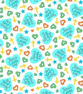 Snuggle Flannel Fabric - Jesus Loves Me Heart Teal