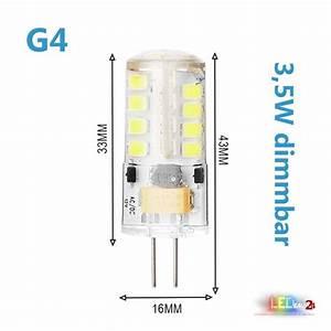 G4 Halogen Auf Led Umrüsten : led g4 dimmbar 3 5w 12v ac dc leuchtmittel warmwei spot ~ Kayakingforconservation.com Haus und Dekorationen