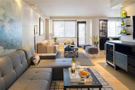 apartment renovation  manhattan modern living room
