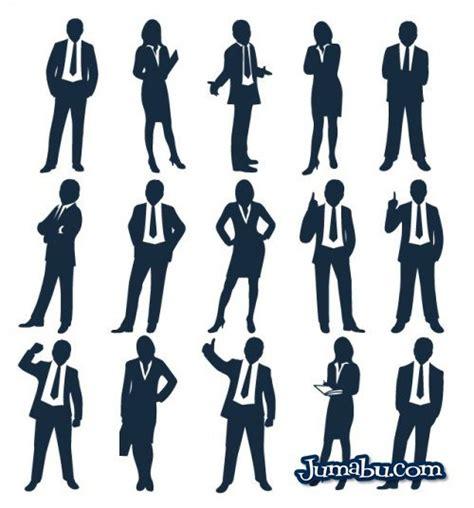 siluetas de personas vestidas de traje en vectores jumabu