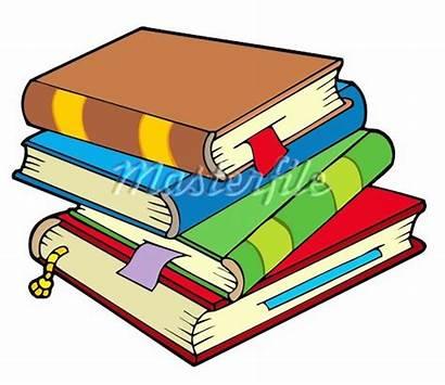 Library Clipart Books Clip Cartoon Textbook Textbooks