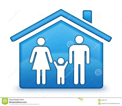 Female Bathroom Sign by Family House Icon Royalty Free Stock Photography Image