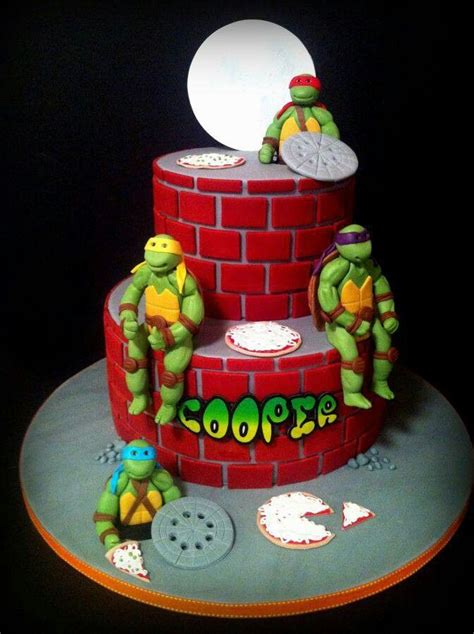 Ninja Turtle Decorations For Cakes by Bolo Decorado Tartarugas Ninja Bolos De Anivers 225 Rio