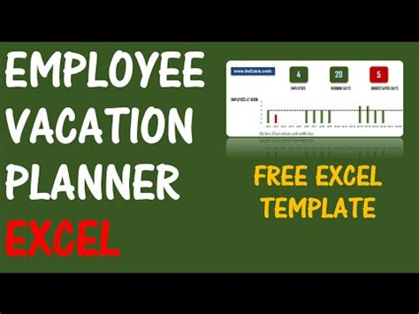employee vacation planner   excel template youtube