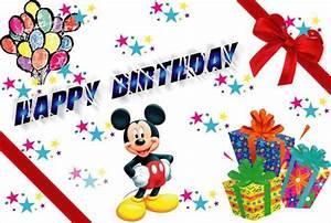Happy Birthday Mickey Mouse : send free ecard happy birthday mickey mouse from ~ Buech-reservation.com Haus und Dekorationen
