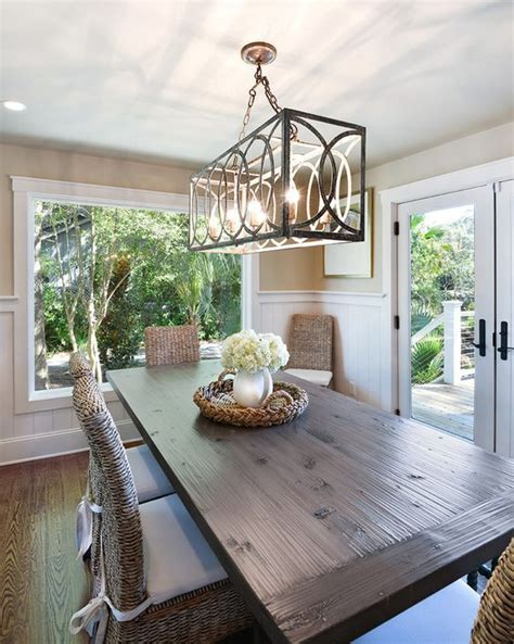 Kitchen Table Decor Ideas - hanging a dining room chandelier at the perfect height