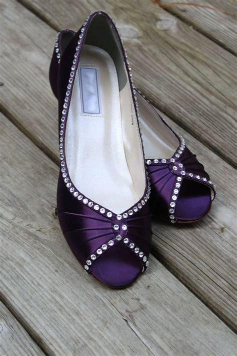 purple wedding shoes wedge  heel   wedge shoes