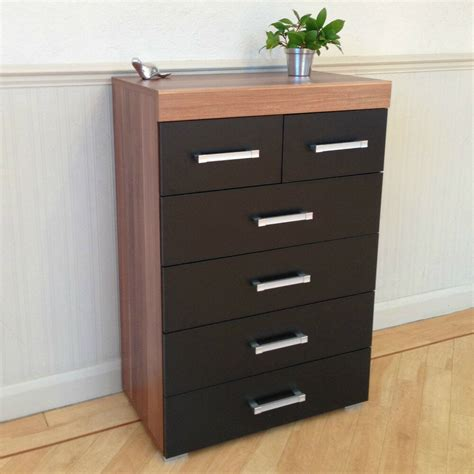 Buy Black Chest Of Drawers by Chest Of 4 2 Drawers In Black Walnut Bedroom Furniture