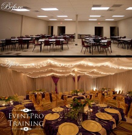 draping walls wedding reception before and after event ceiling and wall draping i did this