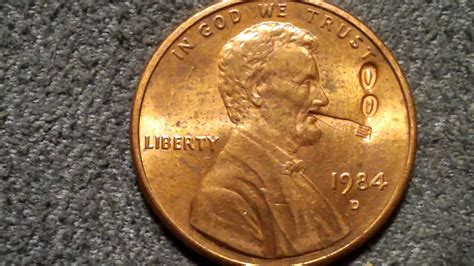 Rare Penny- Lincoln Smoking A Fat One!