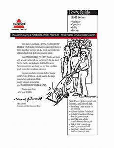 Bissell Powersteamer Proheat Plus 16981 User Manual