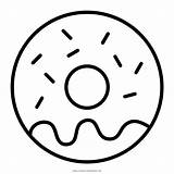 Coloring Donut Doughnut Donuts Pages Colouring Template Sketch sketch template