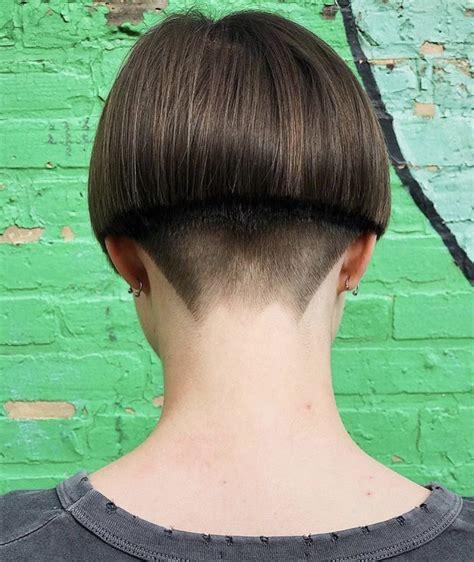 pin  hair matters  buzzed nape bobs pinterest hair