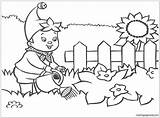 Coloring Garden Pages Watering Plants Boy Flowers Patio Printable Secret Gardens Coloringpagesonly Water Getcolorings Getdrawings sketch template