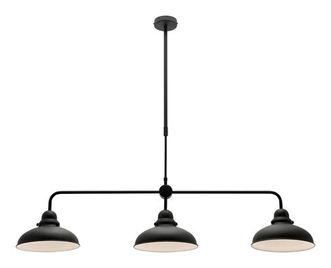 Verona 3 Light Pendant Black  A43433