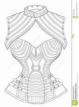 Corset Coloring Adults Bolero Line Illustration sketch template