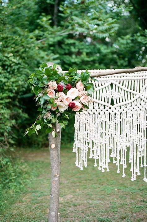 Natural Romantic Wedding With Macrame Details Wedding