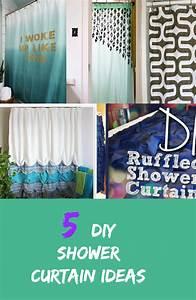 5 DIY Shower Curtain Ideas